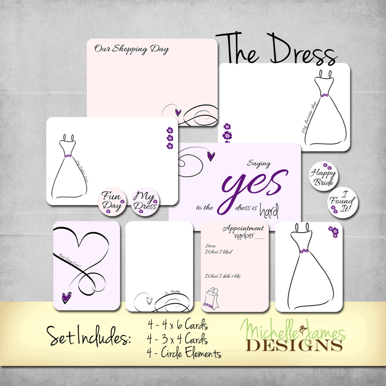 The Dress - Kit for Project Life/Pocket Pates - www.michellejdesigns.com