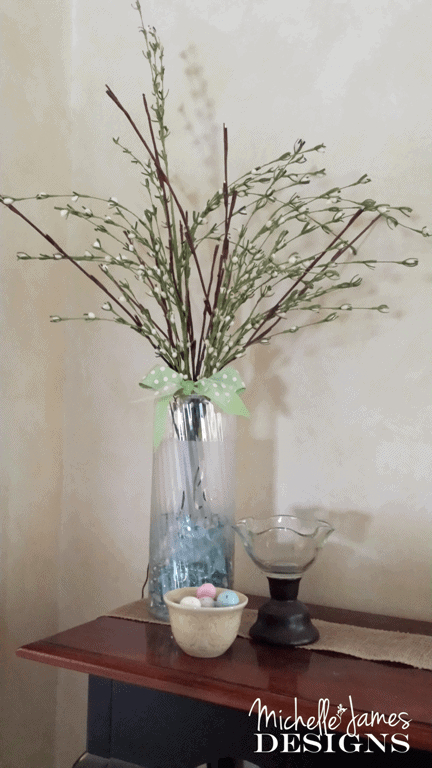 DIY Frosted Vase - www.michellejdesigns.com