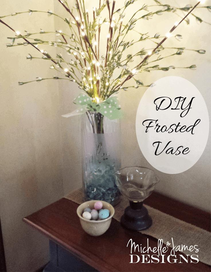 DIY Frosted Vase