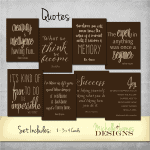 Quotes Kit – Project Life Pocket Pages