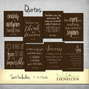Quotes Kit Project Life Pocket Pages - www.michellejdesigns.com