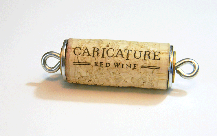 Cork with washers and eyelets on each side.
