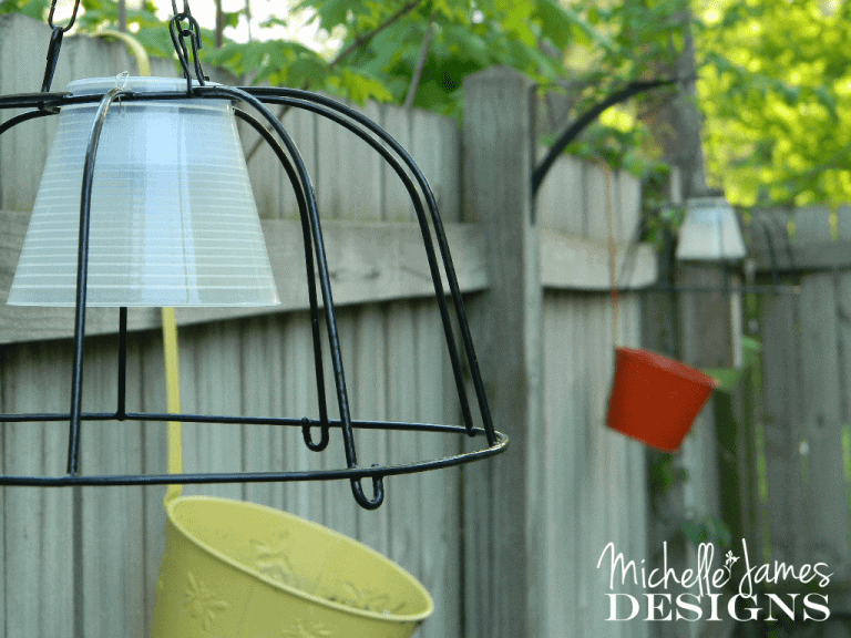 Dollar Store Outdoor Lighting - www.michellejdesigns.com