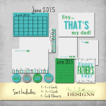 June 2015 Kit for Project Life Pocket Pages