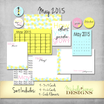 May 2015 Kit – Freebie for Project Life Pocket Pages