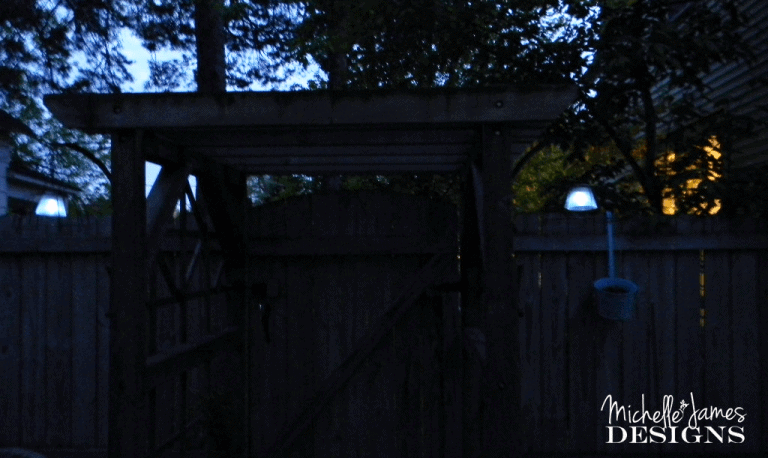 Dollar Store Outdoor Lighting - www.michellejdesigns.com