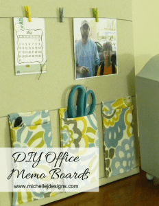 DIY Office Memo Boards - www.michellejdesigns.com
