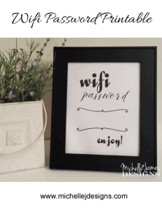 Wifi Password Printable - www.michellejdesigns.com