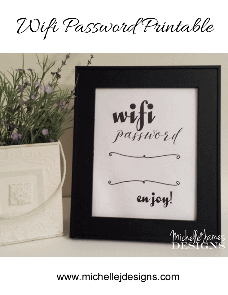 Wifi Password Printable