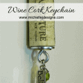 Wine Cork Keychain - www.michellejdesigns.com