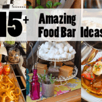 All of these food bars would be amazing to feature at a wedding or any event!