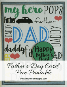Father's-Day-Card - www.michellejdesigns.com - Let your kids create a fun Father's Day Card using this free printable download.