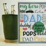 Father's-Day-Card - www.michellejdesigns.com - Your kids can create this awesome Father's Day Card with this free printable