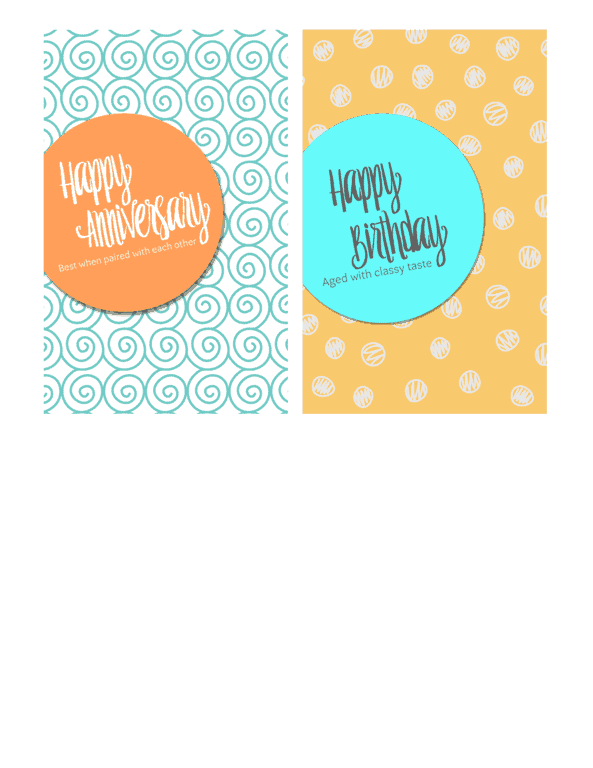 Wine Labels - www.michellejdesigns.com - Print your own birthday and anniversary wine labels!