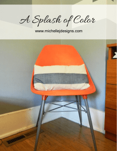 Splash of Color - My New Orange Chair - www.michellejdesigns.com - Slowly creating a guest bedroom and adding orange accents