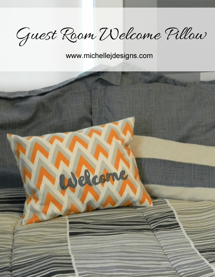 Guest Room Welcome Pillow