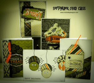 Hocus Pocus - September Card Class - www.michellejdesigns.com - Join me for this spooky class.