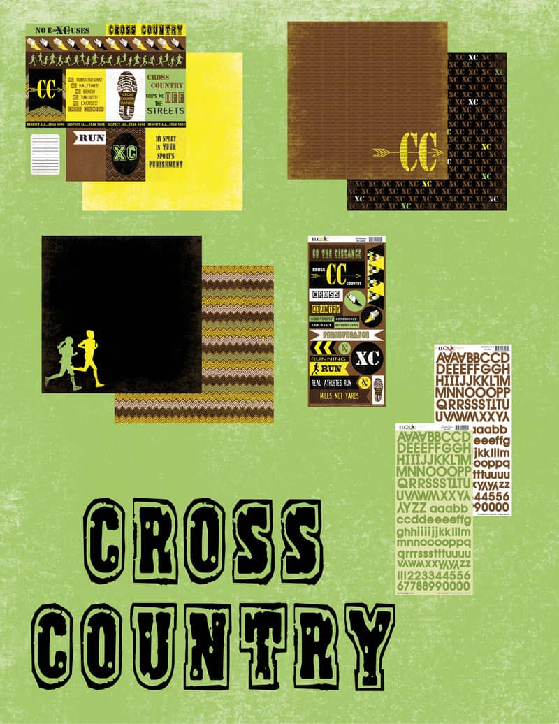 Cross Country with Moxxie - www.michellejdesigns.com - using Moxxie's  Cross Country scrapbooking collection as decor for meet day muffins!