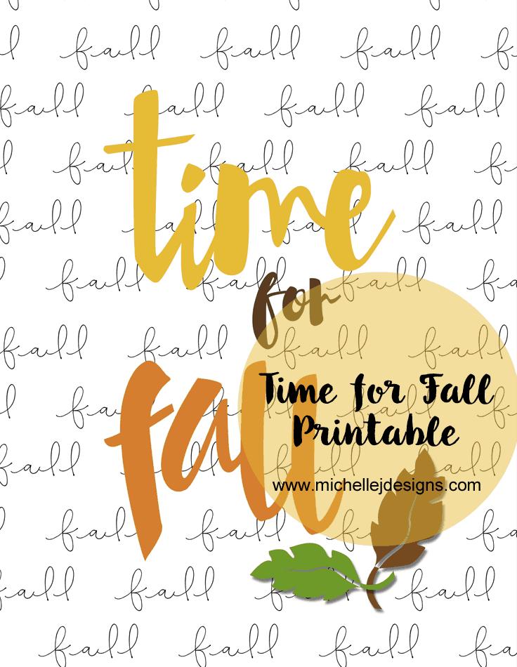 Time for Fall Printable