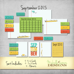 September 2015 Kit – Project Life Pocket Pages