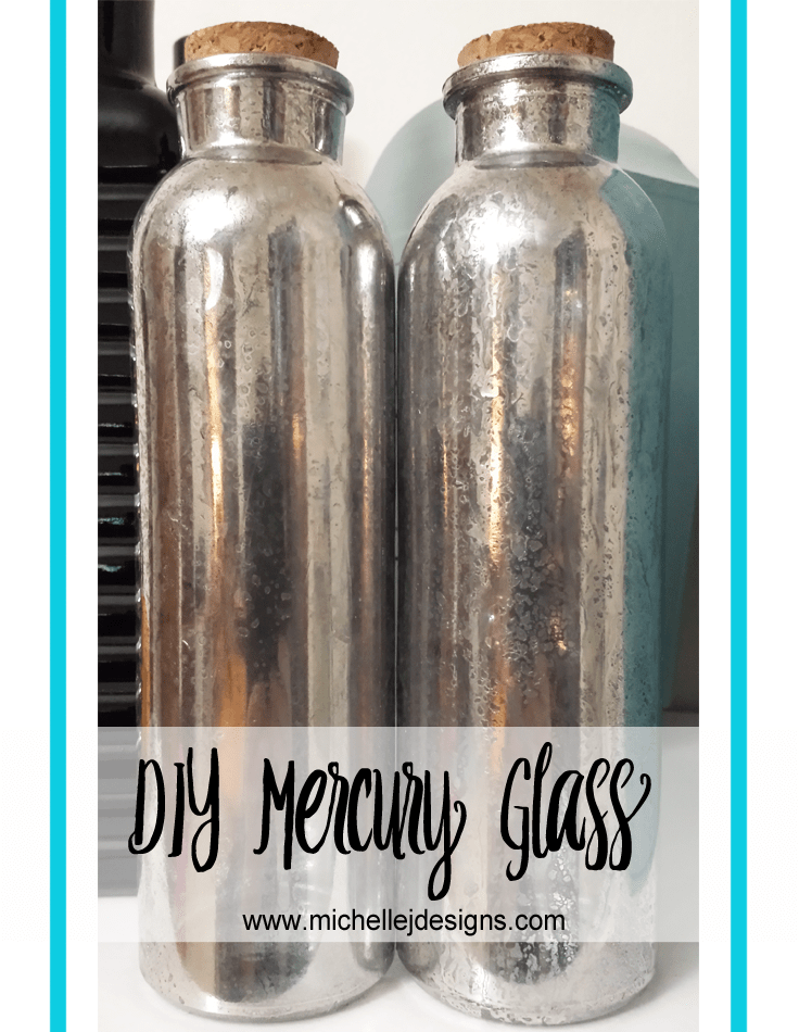 DIY Mercury Glass - www.michellejdesigns.com - create your own mercury glass using a spray paint and some water! Who knew?