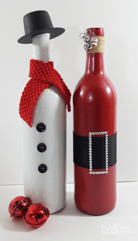 Holiday wine bottle for Christmas bottle decorations