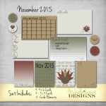 November 2015 Kit – Project Life Pocket Pages
