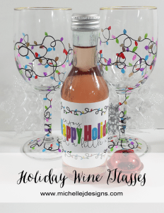 Holiday Wine Glasses - www.michellejdesigns.com - These are tons of fun to make and bake using the Sharpie Oil Based Paint Pens