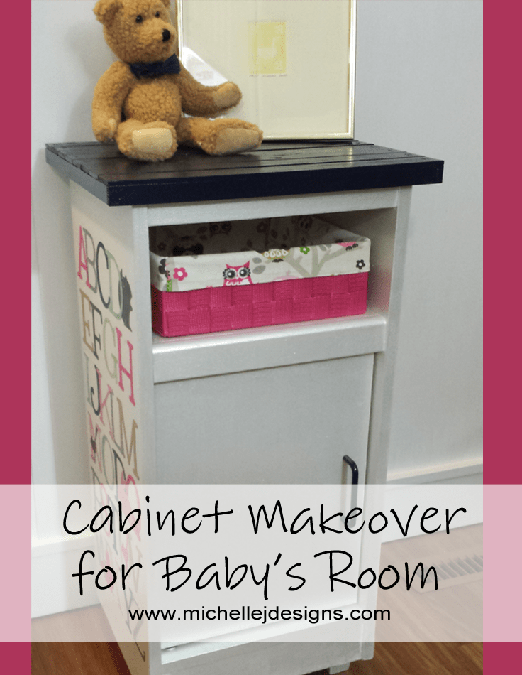 Cabinet Makeover for a Baby's Room