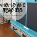 New Life for a Message Center - www.michellejdesigns.com - This message center was in a terrible mess. See how it was transformed and now has a brand, new life!