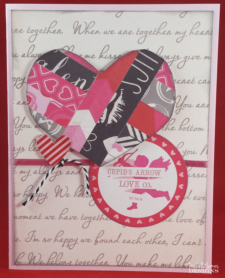 January Card Class - www.michellejdesigns.com - We will be using Echo Park's Blowing Kisses line for our fabulous cards!
