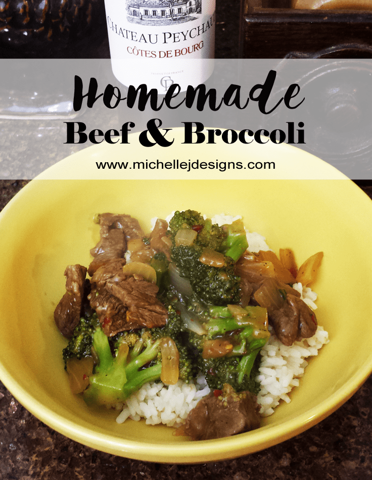 Homemade Beef and Broccoli - www.michellejdesigns.com - how to make your own beef and broccoli and it even tastes great!