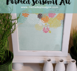 Seasonal Art Frame - www.michellejdesigns.com - I recycled this frame so I can use any paper for any season. I love it!