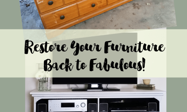 How to Restore Your Furniture Back To Fabulous - www.michellejdesigns.com - Come see how we restored this worn out dresser back to a fabulous piece of furniture!