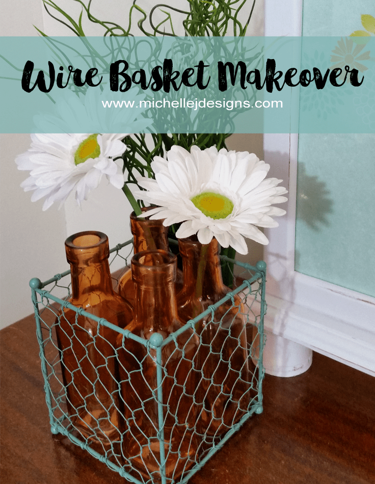 Wire Basket Makeover