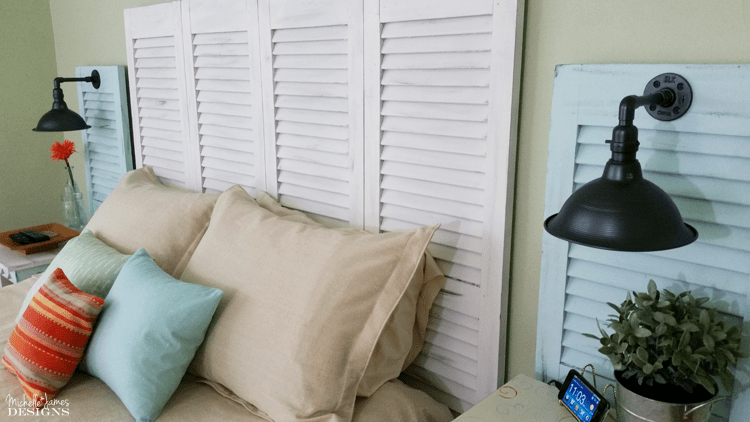 Diy Shutter Headboard Www Micejdesigns See How I Created A