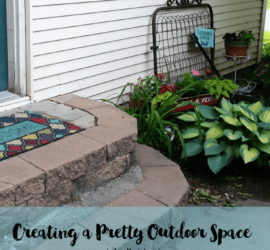 Creating Pretty Outdoor Spaces - www.michellejdesigns.com - I love to see flowers and pretty outdoor spaces when I look around my house. This is how I create them!