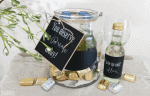 Create a Gift In a Jar With Mini Wine Labels