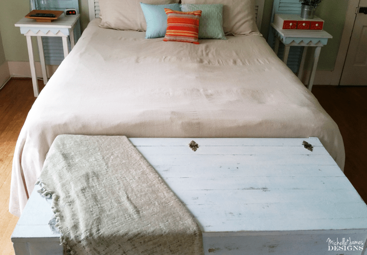 How to Give Your Furniture a Beachy Look - www.michellejdesigns.com - In this post I am using an amazing product that will help you achieve the chippy, beachy look each and every time!