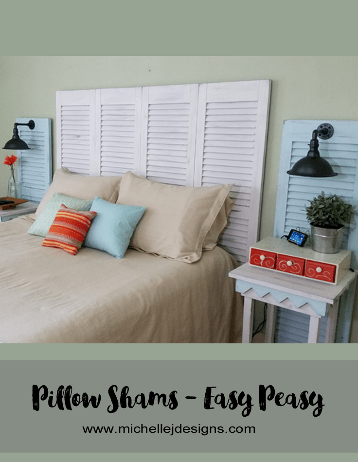 Drop Cloth Bedspread And Pillow Shams - www.michellejdesigns.com - I created a budget friendly bedspread and pillow shams using one drop cloth for $13. It was easy-peasy!