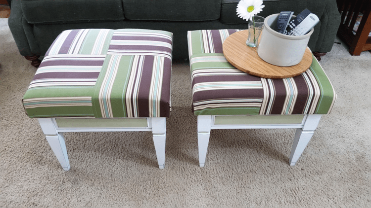 ioned_Milk_Paint_Ottomans - www.michellejdesigns.com - See How I Created These Ottomans from Flea Market Tables!