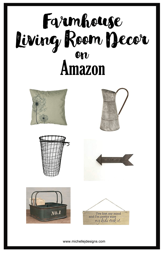 Farmhouse Decor For Every Room In The House - www.michellejdesigns.com - Amazon is a sea of products and you will find the most charming farmhouse decor for every room in the house. These are some of my favorites