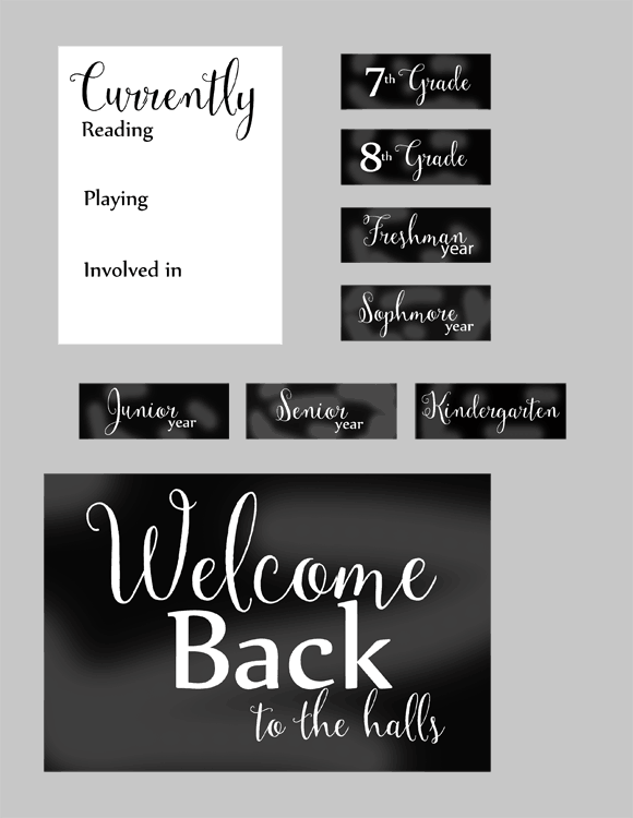 Back To School - www.michellejdesigns.com - I have designed an address change card and a back to school scrapbooking kit and they include free printables! Come over and get them downloaded.