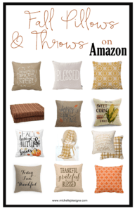 Fall Decor For Your Home - www.michellejdesigns.com - I have created a list of some of my favorite fall decor products that I have found on Amazon. Take a look!