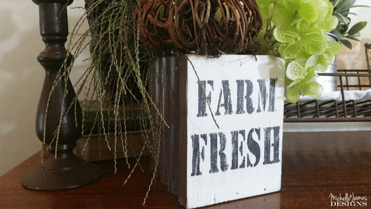 Farmhouse-Decor - www.michellejdesigns.com - Learn how to find items at the thrift store to make into beautiful farmhouse decor you will love!