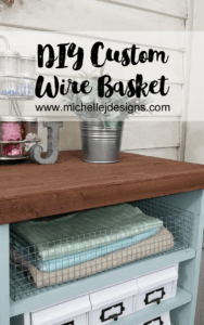 How To Create Your Own Wire Baskets - www.michellejdesigns.com - It seems I can never find the right sized wire basket for my space. This tutorial will teach you how to create your own