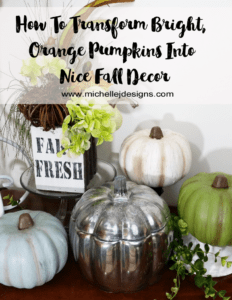 How-To-Transform-Foam-Pumpkins-Into-Pretty-Fall-Decor - www.michellejdesigns.com - I used paint to transform some hideous, bright orange pumpkins into pretty fall decor.
