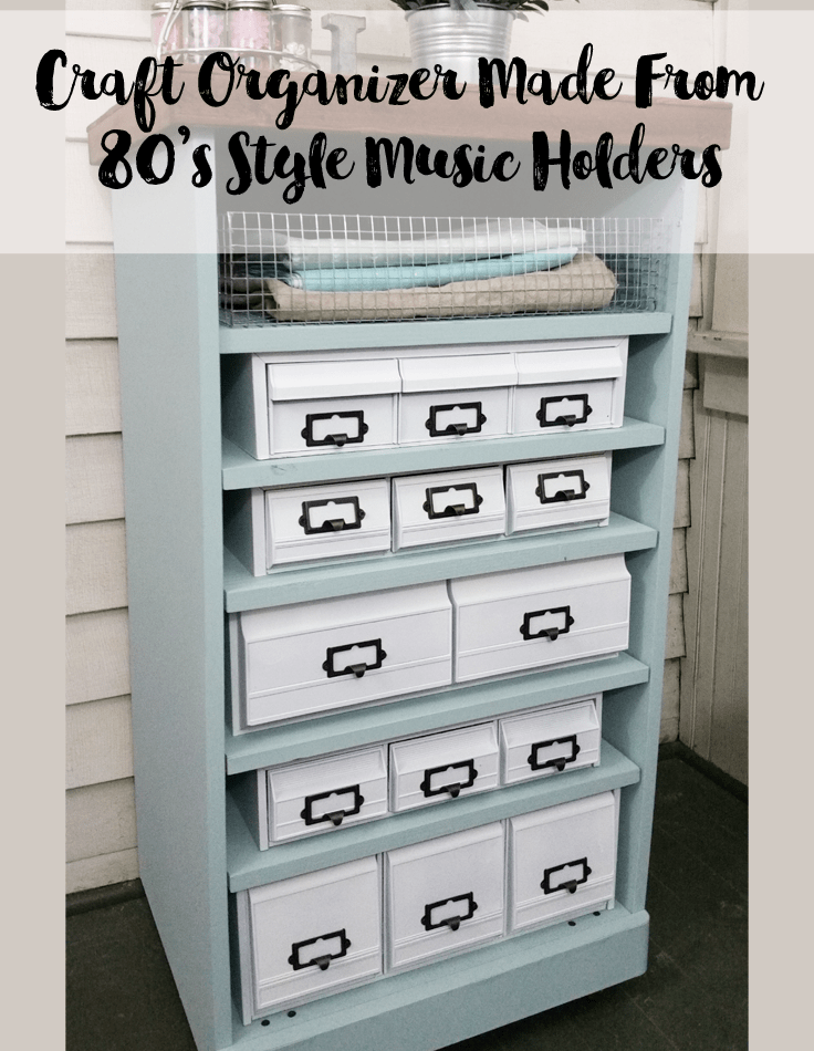 A Craft Organizer Using Upcycled 80's Music Holders