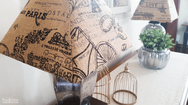 Make Old Lampshades New With Burlap