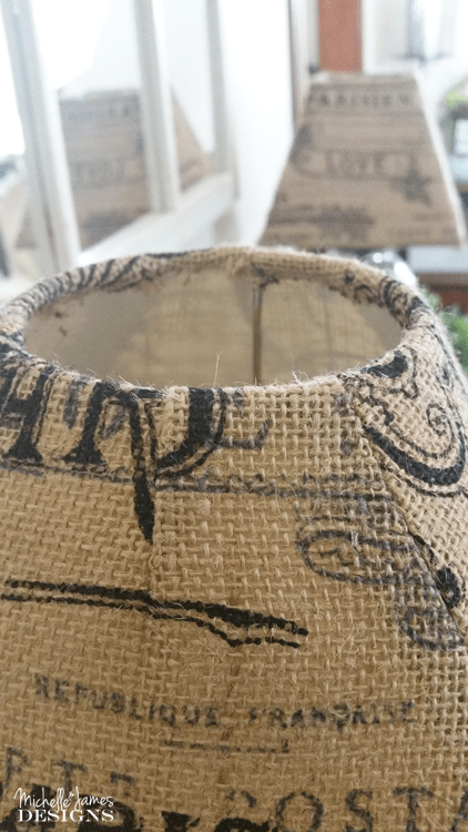 How to make old lampshades new again with burlap make old lampshades new with burlap mozeypictures Choice Image